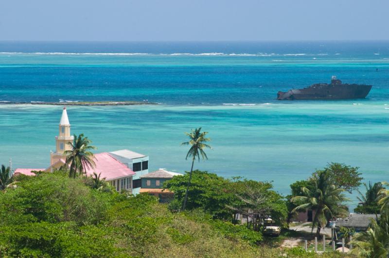 Paisaje de la Isla de San Andres, Archipielago de ...