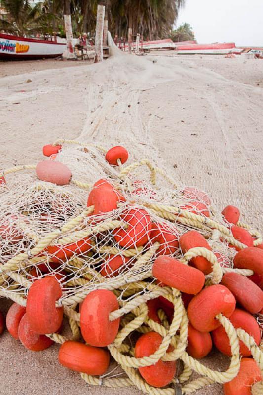 Red de Pesca en la Playa, Dibulla, La Guajira, Rio...
