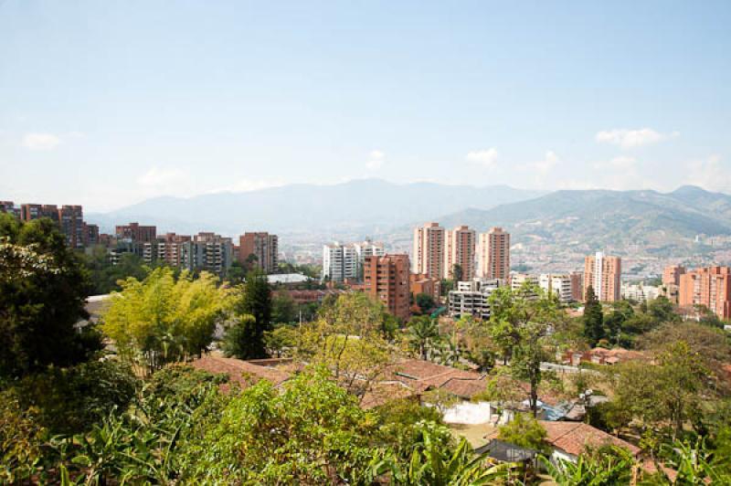 Panoramica de la Ciuda de Medellin, Antioquia, Col...