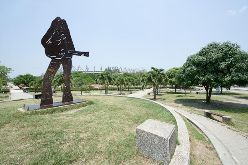 Escultura de Shakira, Parque Metropolitano, Barran...