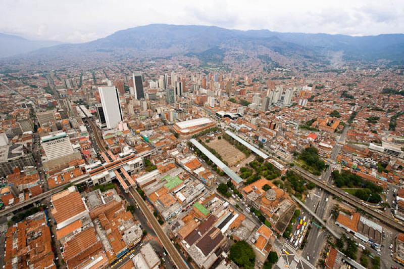 Panoramica del Centro de Medellin, Antioquia, Colo...