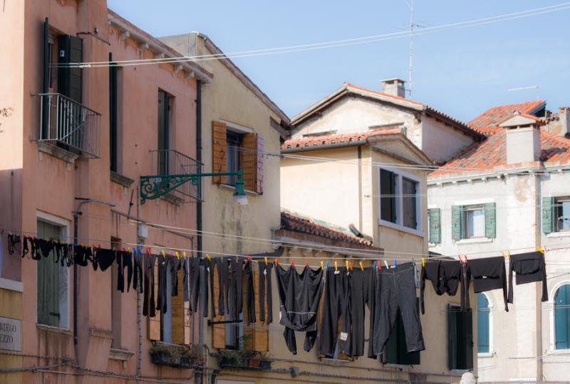 Viviendas de Venecia, Veneto, Italia, Europa Occid...