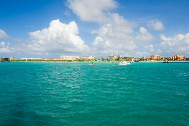 Palm Beach, Oranjestad, Aruba, Antillas Menores, A...