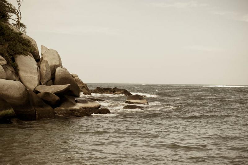 Playa Nudista, Parque Nacional Natural Tayrona, Sa...