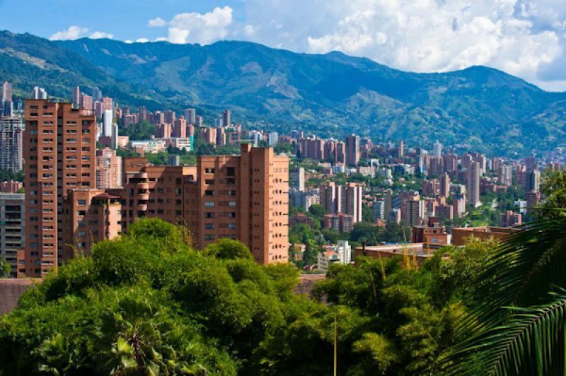 Panoramica El Poblado, Medellin, Antioquia, Colomb...