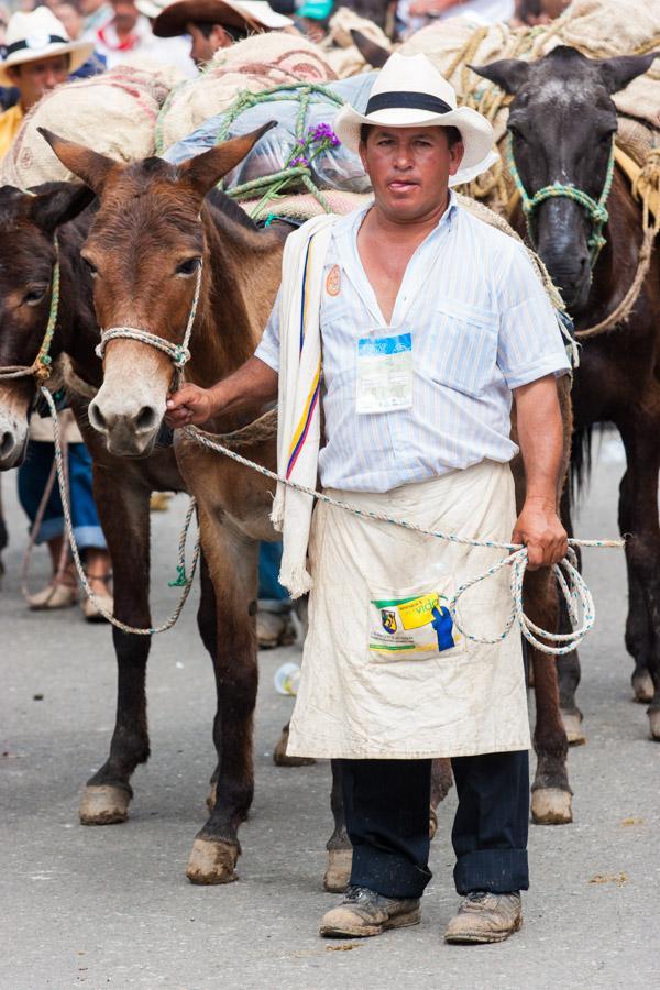 Arriero con Mulas en Antioquia, Colombia