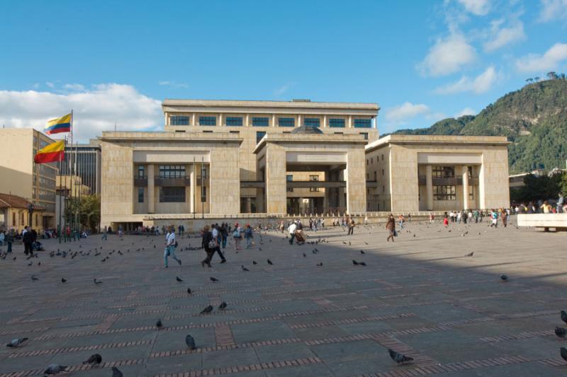 Palacio de Justicia, Plaza de Bolivar, Bogota, Cun...