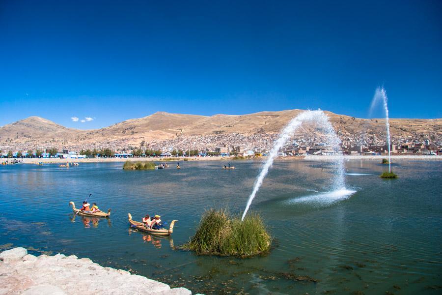 Lago Titicaca, Provincia del Puno, Peru, Cuzco, Cu...