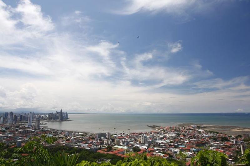 Panoramica de Ciudad de Panama, Panama, America Ce...